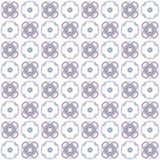 Seamless texture with 3D rendering abstract fractal purple blue pattern. On a white background for fabric design Stock Images