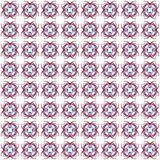 Seamless texture with 3D rendering abstract fractal red blue pattern Royalty Free Stock Photography