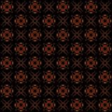 Seamless texture with 3D rendering abstract fractal red pattern. On a black background for fabric design Stock Image