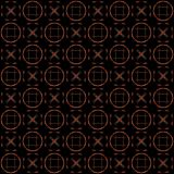 Seamless texture with 3D rendering abstract fractal red pattern. On a black background for fabric design Royalty Free Stock Photo