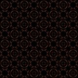 Seamless texture with 3D rendering abstract fractal red pattern. On a black background for fabric design Stock Photography