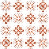 Seamless texture with 3D rendering abstract fractal red pattern Stock Photo