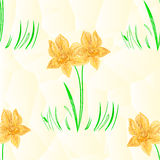 Seamless texture Daffodil polygons mosaic easter spring background vector Royalty Free Stock Photography