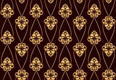Seamless texture. Dark background , floral designs , curved lines , vector illustration Royalty Free Stock Images