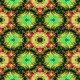 Seamless texture of dark kaleidoscope pattern Stock Photo