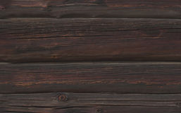 Seamless texture of dark sooty Wooden logs. Texture of the wooden wall stock photo