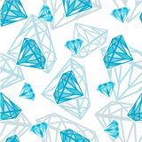 Seamless texture with diamonds vector illustration