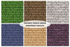 Seamless texture different color stone wall. Vector seamless texture different color stone wall Royalty Free Stock Image