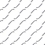 Seamless texture with different hand drawn matches on white background. Stock Photos