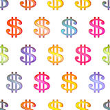 Seamless texture with dollar sign Royalty Free Stock Photos