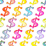 Seamless texture with dollar sign Royalty Free Stock Image