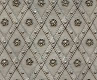 Seamless texture door bind with iron nailed metal Stock Photo