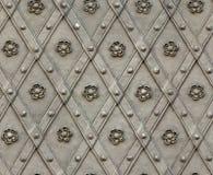 Seamless texture door bind with iron nailed metal Stock Photo