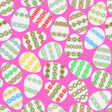 Seamless texture of Easter eggs royalty free illustration