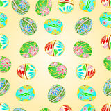 Seamless Texture Easter Eggs Floral Pattern Vector Illustration Royalty Free Stock Photography