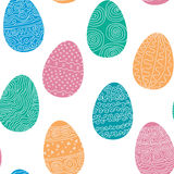 Seamless texture of Easter eggs Royalty Free Stock Photography