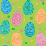 Seamless texture of Easter eggs Stock Photo