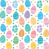 Seamless texture of Easter eggs Royalty Free Stock Photo