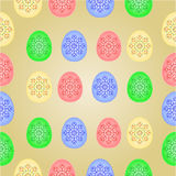 Seamless texture Easter eggs  vintage vector Royalty Free Stock Photo