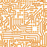 Seamless texture -  electronic circuit board Stock Photography