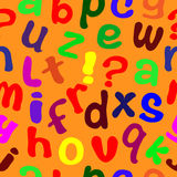Seamless texture with English letters. Stock Photography