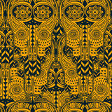 Seamless texture with ethnic ornament Royalty Free Stock Images