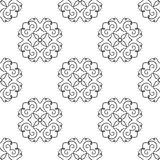 Seamless texture with ethnic pattern. On white background stock illustration