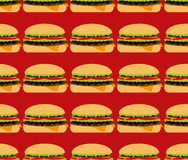 Seamless texture, fast food Royalty Free Stock Photos