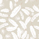 Seamless texture with feathers Royalty Free Stock Photography