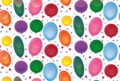 Seamless texture with festive balloons on a white background. Vector pattern for wrapping paper, fabrics and your design Stock Images