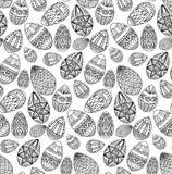 Seamless texture with festive doodle eggs Stock Photos