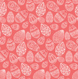 Seamless texture with festive doodle eggs with boho pattern Royalty Free Stock Photo