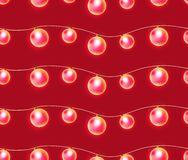 Seamless texture with festive garlands of lights. Royalty Free Stock Images