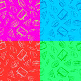 Seamless texture festive packing Stock Photo
