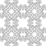 SEAMLESS VECTOR PATTERN DESIGN BACKGROUND 3D EFFECT. Seamless texture. Figure 3D - the structure of the atom Royalty Free Stock Image