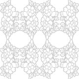 SEAMLESS VECTOR PATTERN DESIGN BACKGROUND 3D EFFECT. Seamless texture. Figure 3D - the structure of the atom Royalty Free Stock Photos