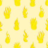Seamless texture with fire Royalty Free Stock Photo