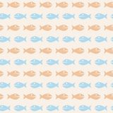 Seamless texture Fish Stock Images