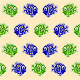 Seamless texture fish faience Christmas motive vector Stock Photography