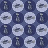Seamless texture with fishes. Royalty Free Stock Photos