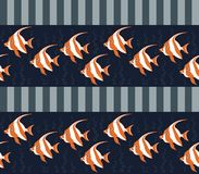 Seamless texture with fishes. Stock Image