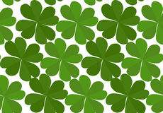 Seamless texture with flat lucky four-leaf clover Royalty Free Stock Photography