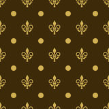 Seamless texture fleur de lis, printing on fabric, wallpaper stock illustration