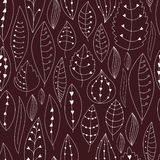 Seamless texture with floral elements . Leaves pattern. Stock Photos