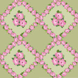 Seamless texture with floral garlands Royalty Free Stock Photos