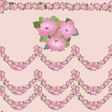 Seamless texture with floral garlands Royalty Free Stock Images