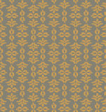 Seamless texture with floral ornament. Seamless pattern with outline leaves on gray background Royalty Free Stock Images