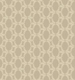 Seamless texture with floral ornament. Seamless pattern with outline leaves on pale brown  background Stock Photos