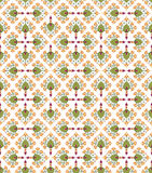 Seamless texture with floral ornament. Seamless pattern background from flower motif in a retro style on white wallpaper Stock Photo