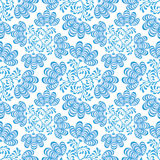 Seamless texture with floral ornament. Seamless pattern blue flowers on white in russian style Gzhel Stock Photo